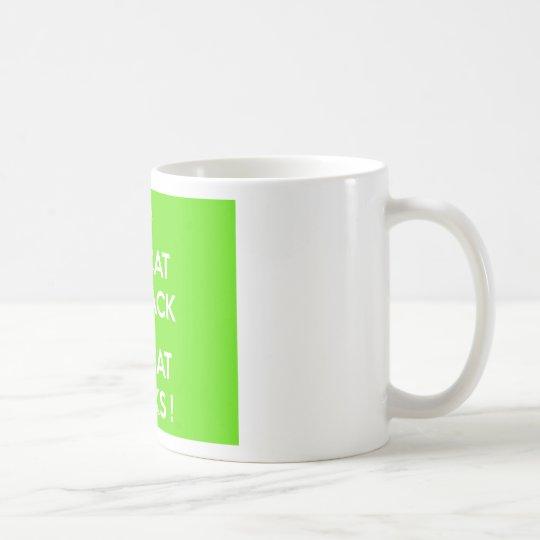 Black cat rocks coffee mug