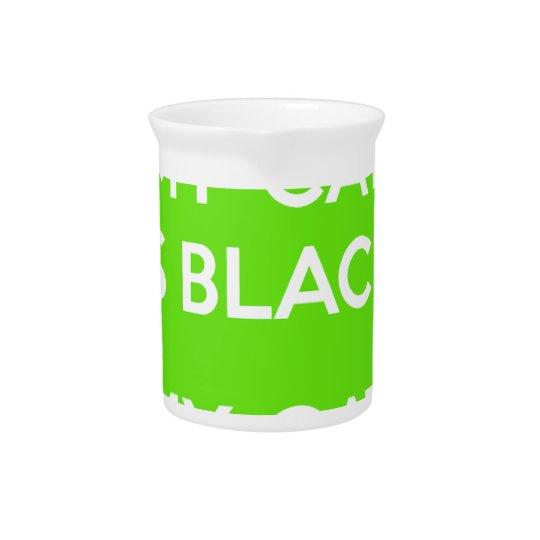 Black cat rocks drink pitchers