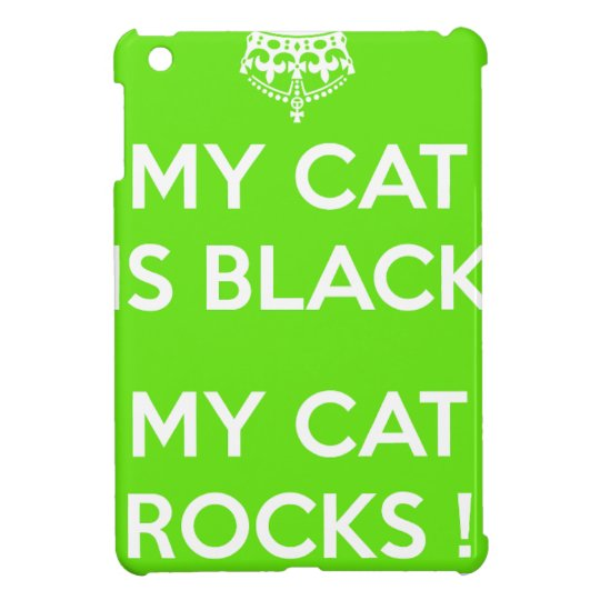 Black cat rocks iPad mini covers