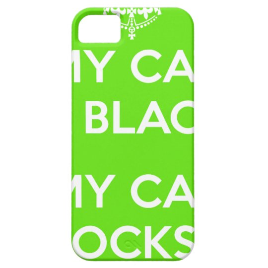 Black cat rocks iPhone 5 covers