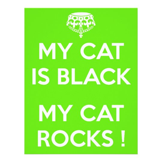 Black cat rocks letterhead