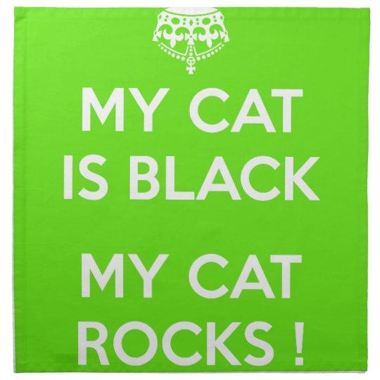 Black cat rocks napkin