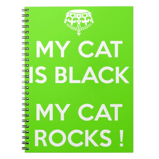 Black cat rocks notebook