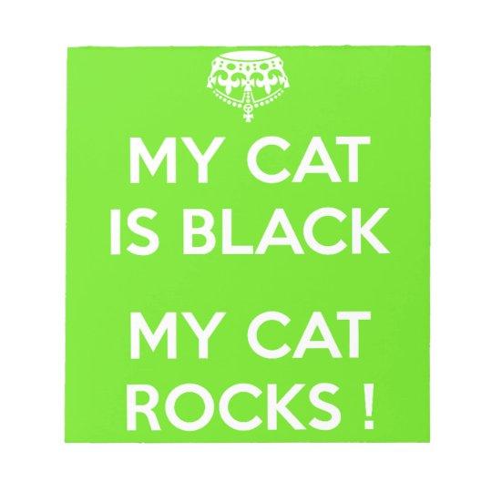 Black cat rocks notepads