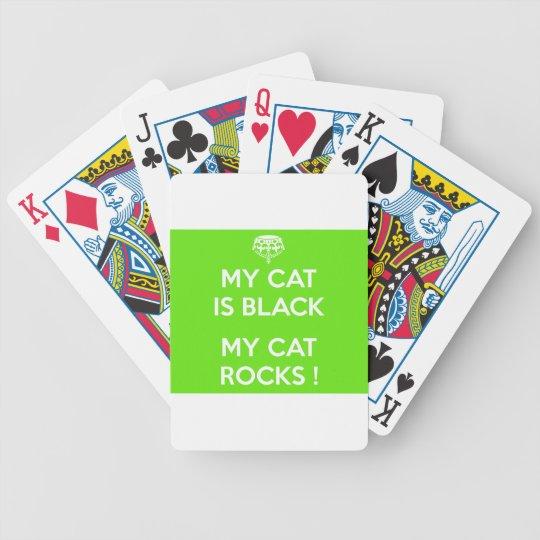 Black cat rocks poker deck