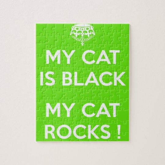 Black cat rocks puzzles