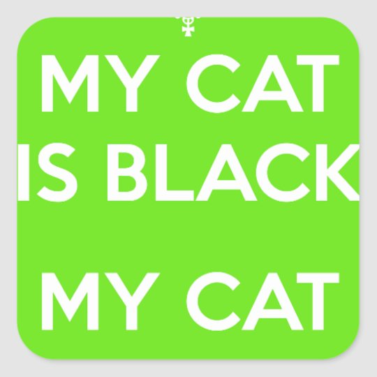 Black cat rocks square sticker