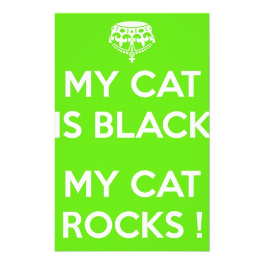 Black cat rocks stationery