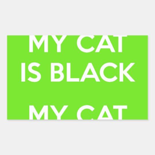 Black cat rocks sticker