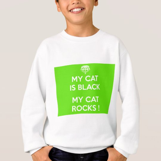 Black cat rocks sweatshirt