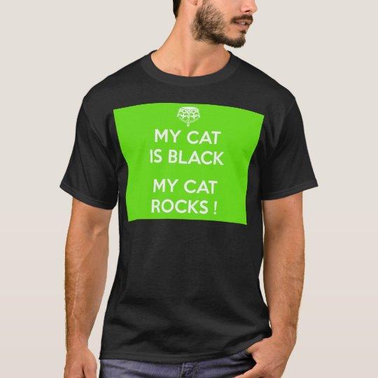 Black cat rocks T-Shirt