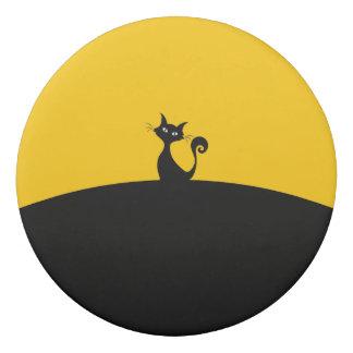 Black Cat Round Eraser