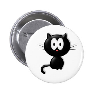 Black Cat Scardy Cat Halloween Gift 2 Inch Round Button