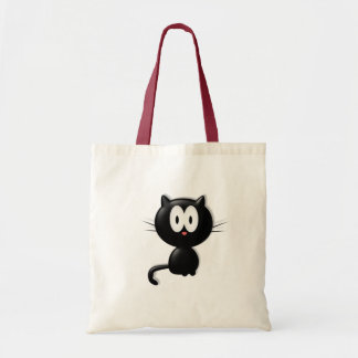 Black Cat Scardy Cat Halloween Gift Budget Tote Bag