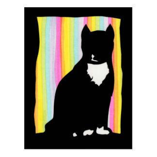Black Cat Sihouette Postcard