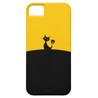 Black Cat Silhouette Cartoon Mobile Phone Case
