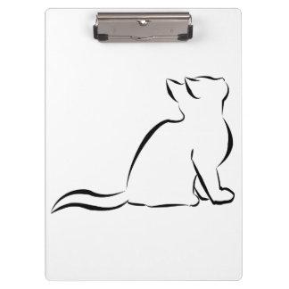 Black cat silhouette clipboard