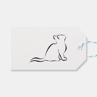 Black cat silhouette gift tags