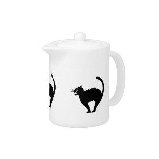Black Cat Silhouette Teapot