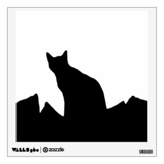 Black Cat silhouette Wall Cling Wall Sticker