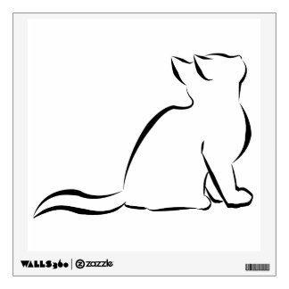 Black cat silhouette wall decal