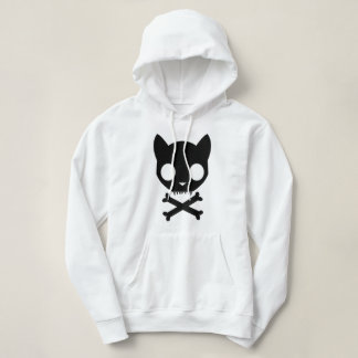 Black Cat Skull and Crossbones Hoodie