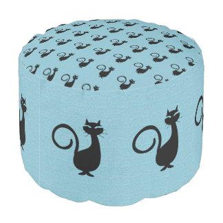 Black-Cat-Sky-Blue-Klondike-Kitty--Kat-Pouf Pouf