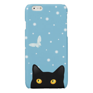 Black Cat Snow Butterfly Savvy iPhone 6