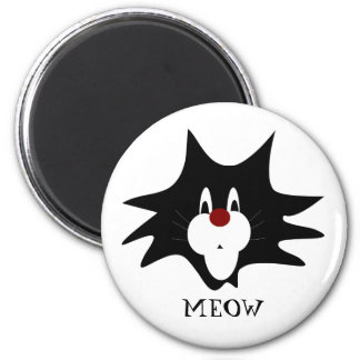 Black Cat Splat Magnet