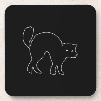 Black Cat spooky image Beverage Coaster