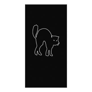 Black Cat spooky image Personalized Photo Card