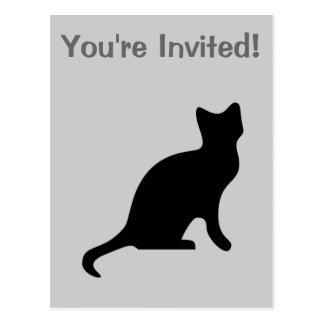 Black Cat - Spooky Scary Postcard