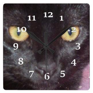 Black Cat Square Wall Clock