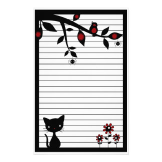 Black Cat Stationery