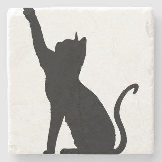Black Cat Stone Coaster