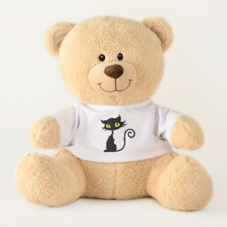 Black Cat Teddy Bear for Children or Adults