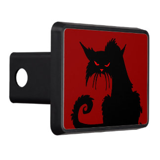 Black Cat Trailer Hitch Cover