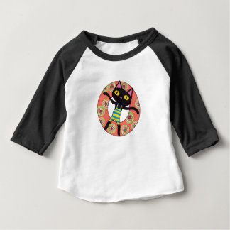 Black Cat Tubing Baby T-Shirt