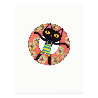 Black Cat Tubing Postcard