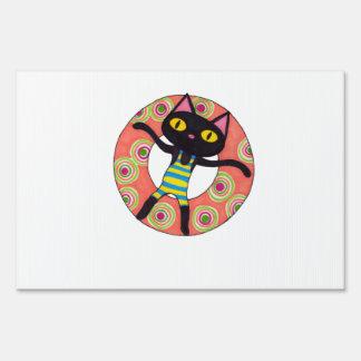 Black Cat Tubing Sign