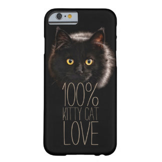 Black Cat Typography Cat Lover Barely There iPhone 6 Case