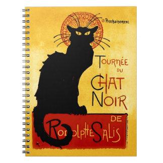 Black Cat Vintage Tournée du Chat Noir, Theophile Notebooks