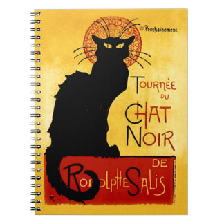 Black Cat Vintage Tournée du Chat Noir, Theophile Spiral Note Book