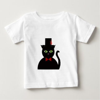 Black Cat w Top Hat Red Bow Infant T-Shirt