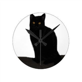 Black Cat Wallclock