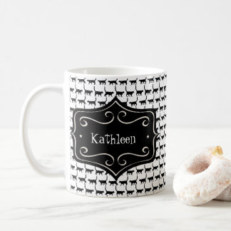 Black Cat Wallpaper | Change Name | Change Color Coffee Mug