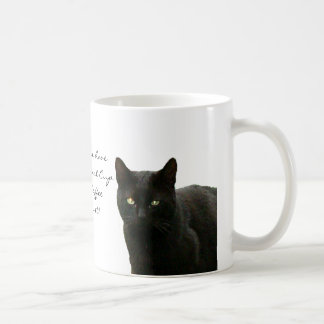 Black Cat Watching Coffee Mug