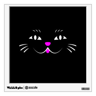 Black Cat Watching You Wall Decal