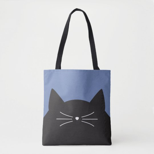 Black Cat, Whiskers and Tail Tote Bag