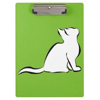 Black cat, white fill clipboard